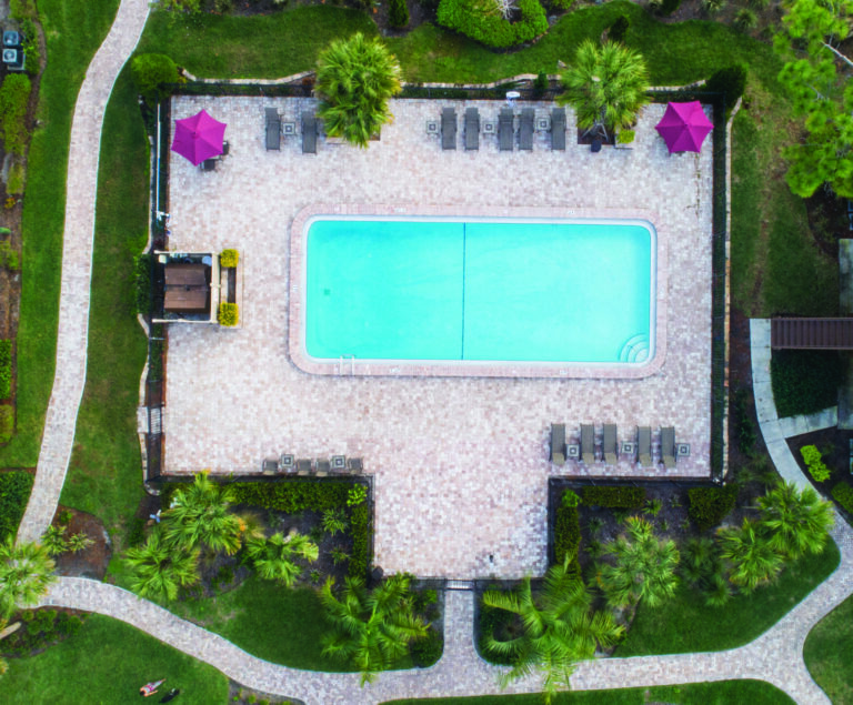 Aerial photo of 2nd pool