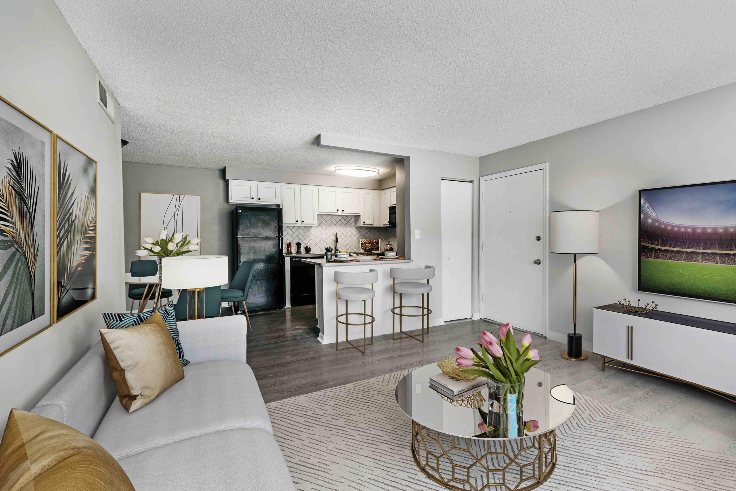 Livingroom of Model Apartment